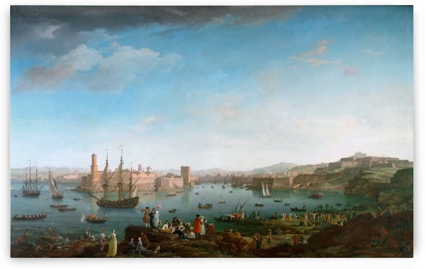 Entering the port of Marseille by Claude-Joseph Vernet