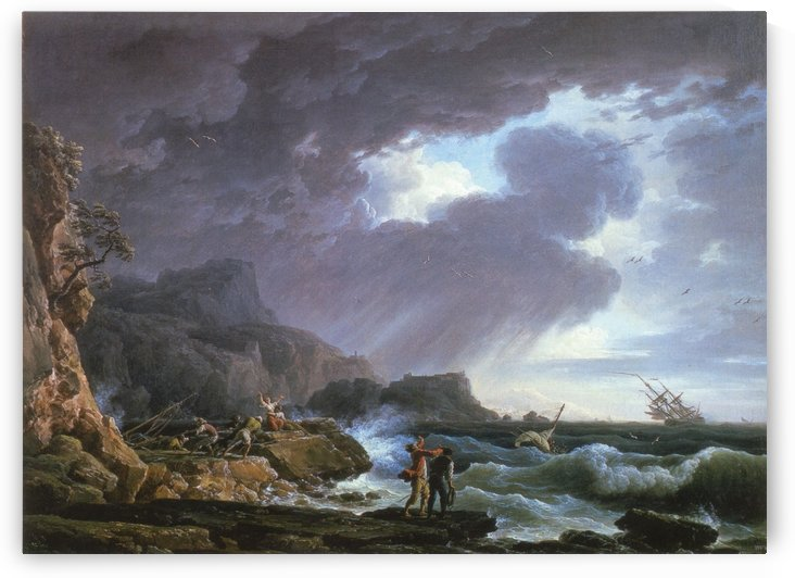 Seastorm by Claude-Joseph Vernet