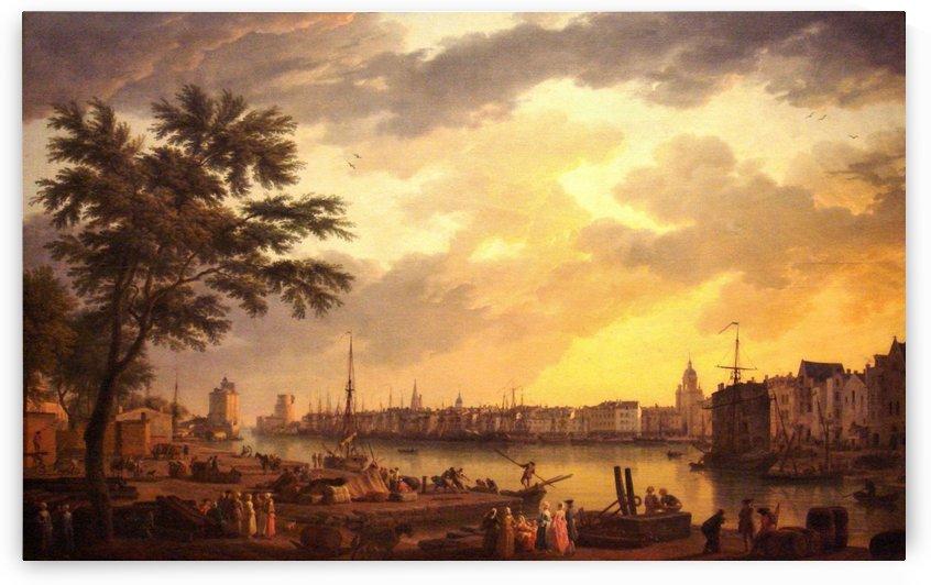 Rochelle Harbour by Claude-Joseph Vernet