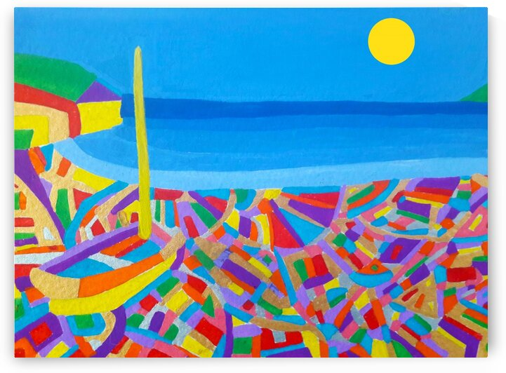 Sailing Boat by the Sea-Acrylic painting by Matthew Lacey