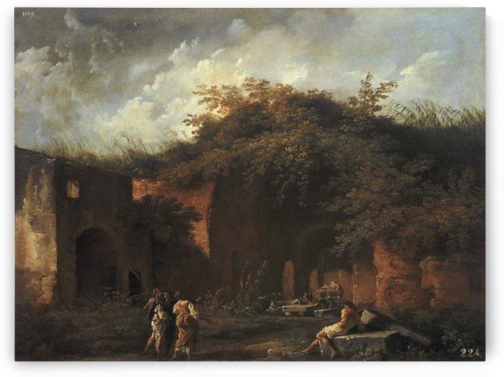 Landscape with ruins by Claude-Joseph Vernet