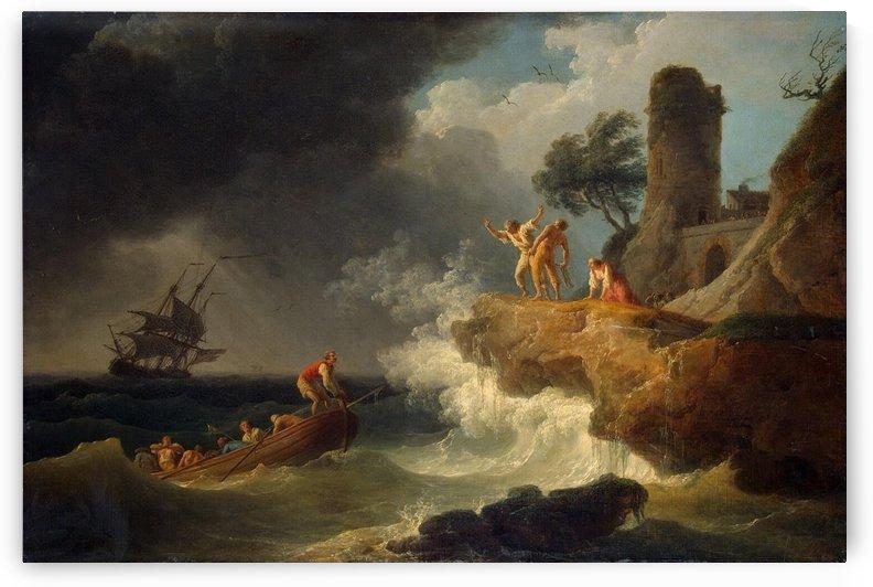 Storm by a Rocky Shore by Claude-Joseph Vernet