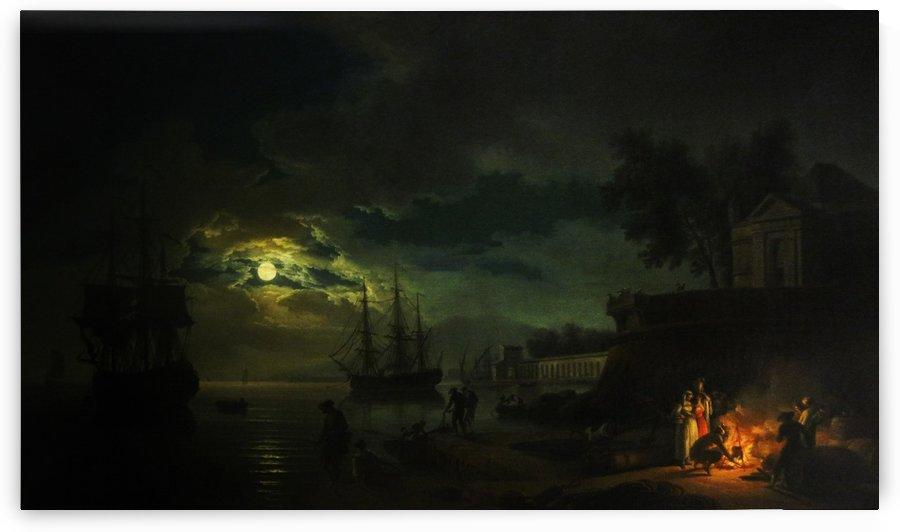 Puerto Mediterraneo by Claude-Joseph Vernet