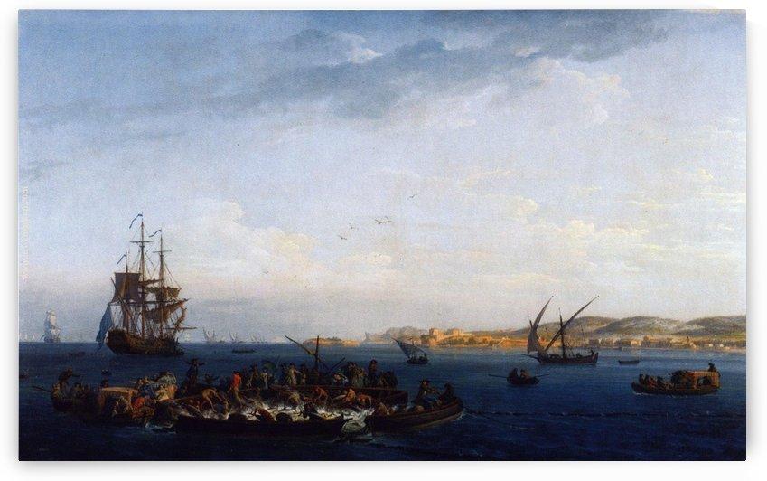 View of the Gulf of Bandol tuna by Claude-Joseph Vernet