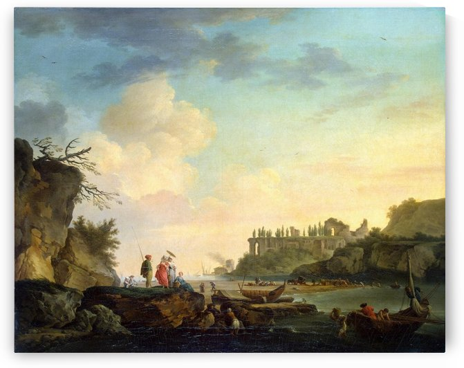 Ruins near the Mouth of a River by Claude-Joseph Vernet
