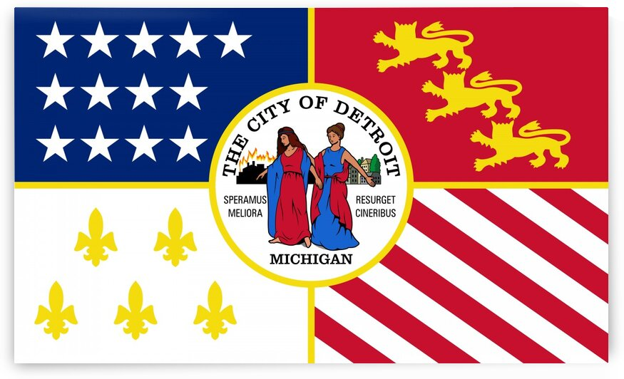 Detroit City Flag by Fun With Flags