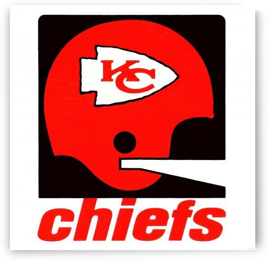 Vintage Kansas City Chiefs Helmet Art by Row One Brand