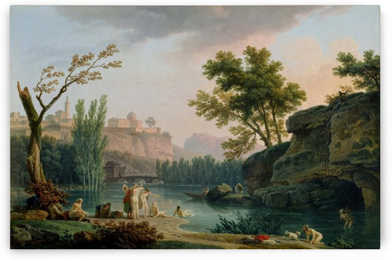 Summer Evening, Landscape in Italy, 1773 by Claude-Joseph Vernet