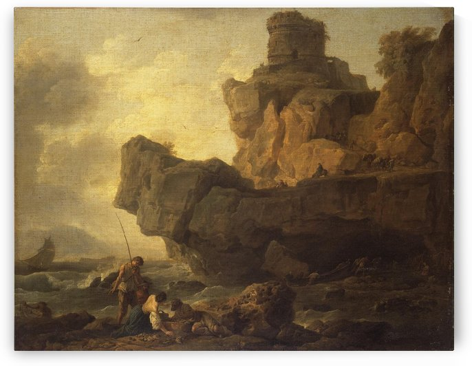 Rocks on a Seashore by Claude-Joseph Vernet