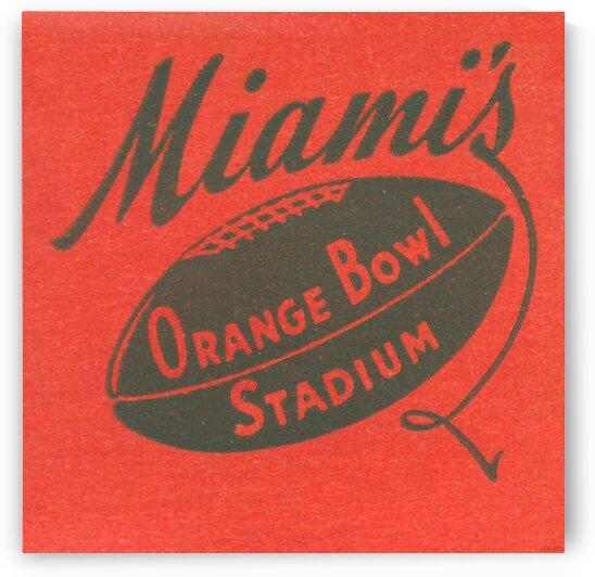 1950 Miami Orange Bowl by Row One Brand