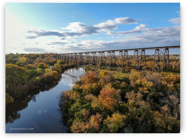 Hi-Line Bridge Valley City North Dakota by Jensen Air LLC