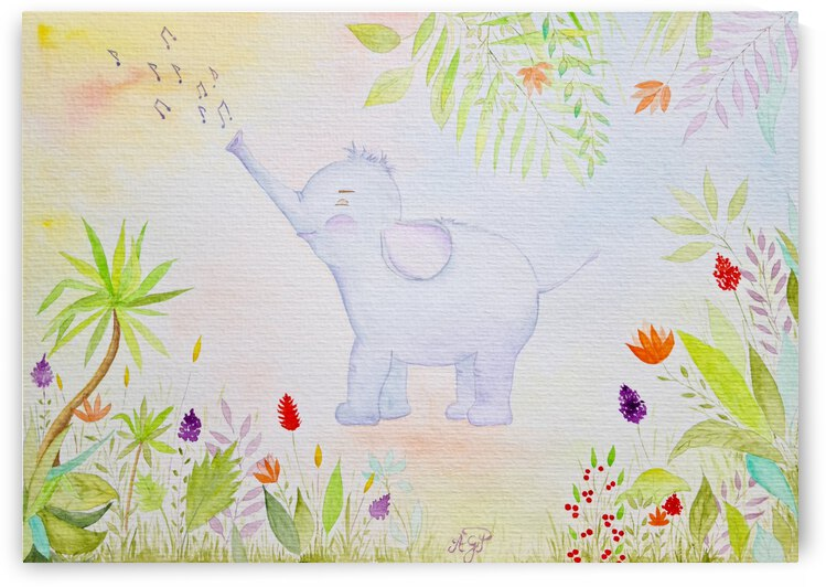 The Music Lover Elephant by Feerie