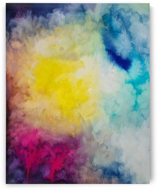 Watercolour Abstract by Feerie