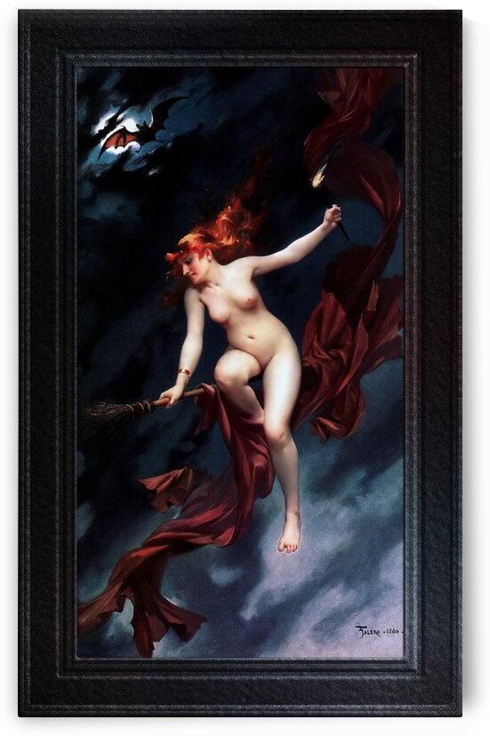 The Witches Sabbath by Luis Ricardo Falero Classical Fine Art Old Masters Reproduction by xzendor7