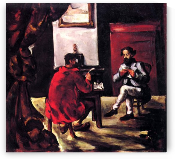 Paul Alexis reads before Zola by Cezanne by Cezanne