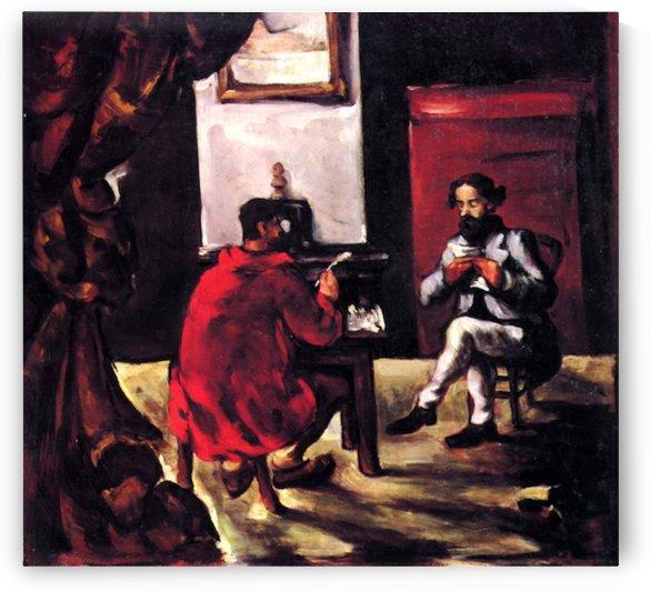 Paul Alexis reads before Zola by Cezanne by Cezanne