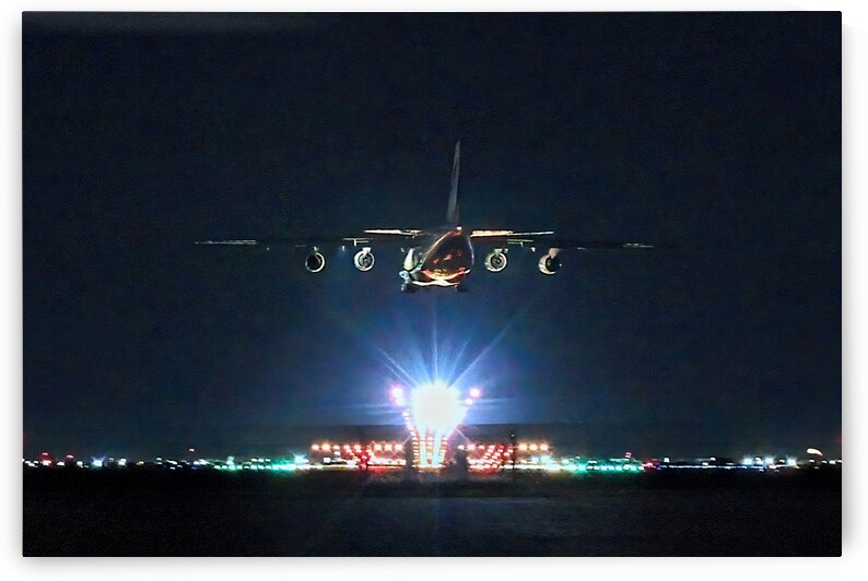 Antonov An-124 Night Arrival at YWG by Jonathan Kozub