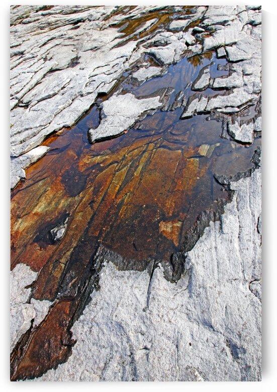 Rock Pool Moon River Falls by Deb Oppermann