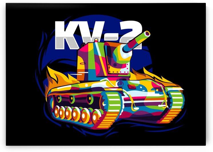Colorful KV-2 Tank aka Smasher by wpaprint