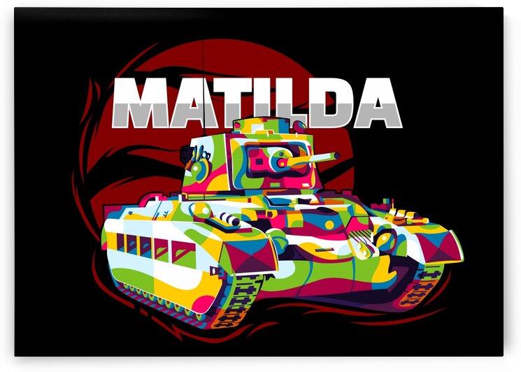 Matilda II Tank Pop Art by wpaprint