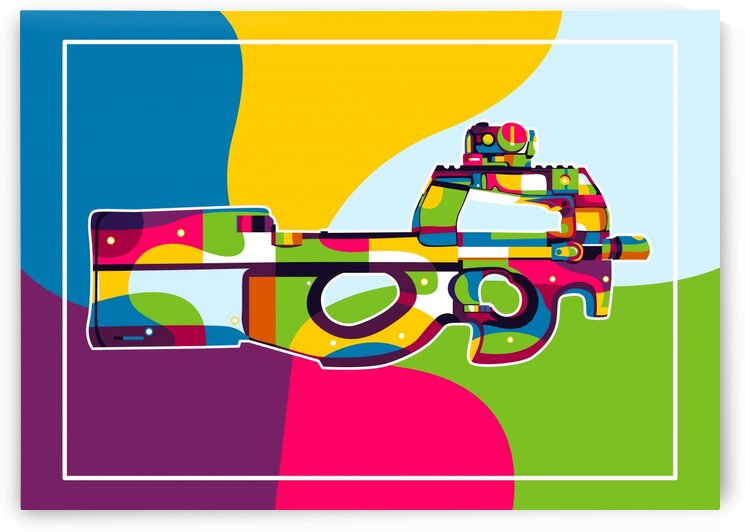 FN P90 Pop Art by wpaprint