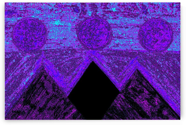 Pyramids Of Other Worlds In Purple And Blue by Sherrie Larch