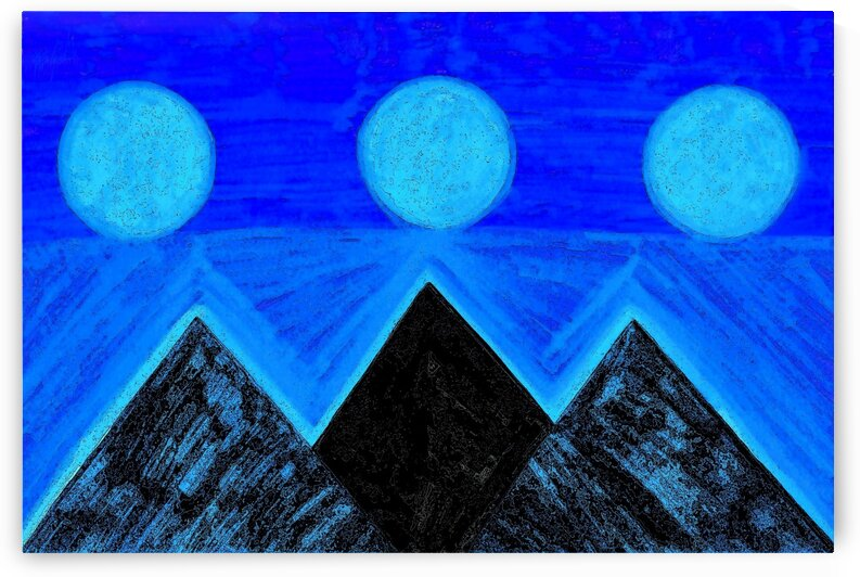 Pyramids Of Other Worlds Blue Moons by Sherrie Larch