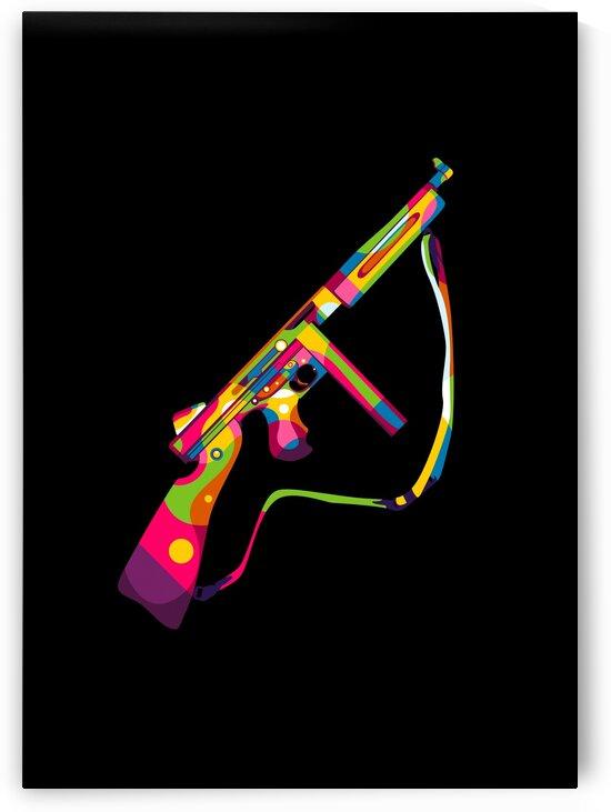 Thompson Submachine Gun Pop Art by wpaprint