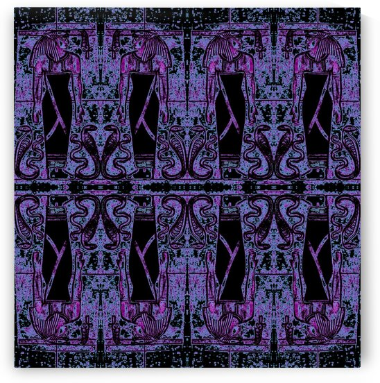 Egyptian Priests And Snakes Deep Purple 2 by Sherrie Larch