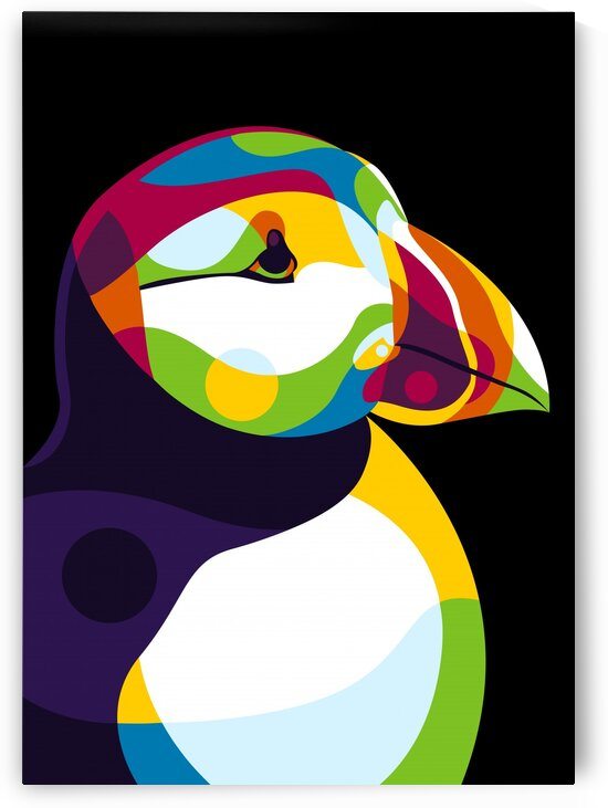 Puffin Head by wpaprint