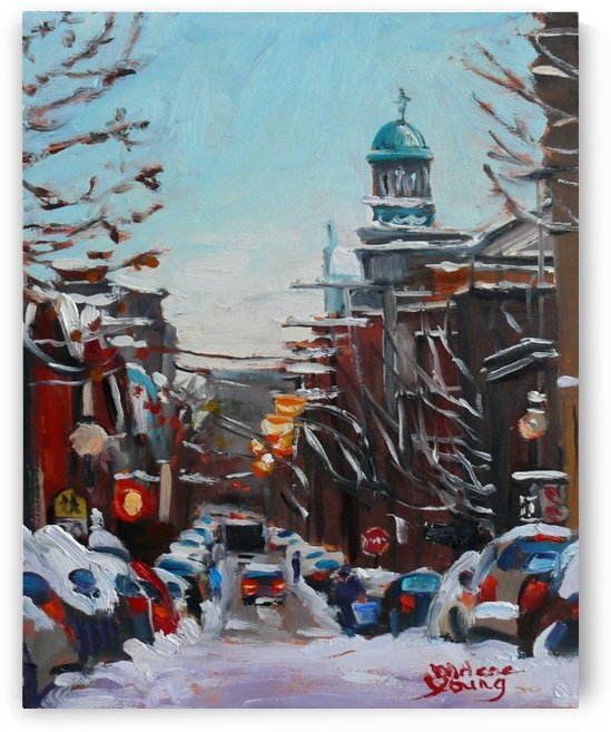 Le Plateau Scene, Winter by Darlene Young Canadian Artist