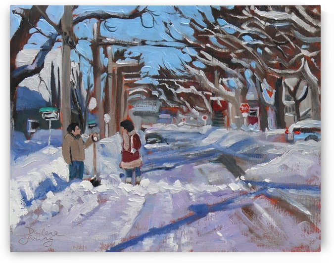 Charlottetown winter morning by Darlene Young Canadian Artist
