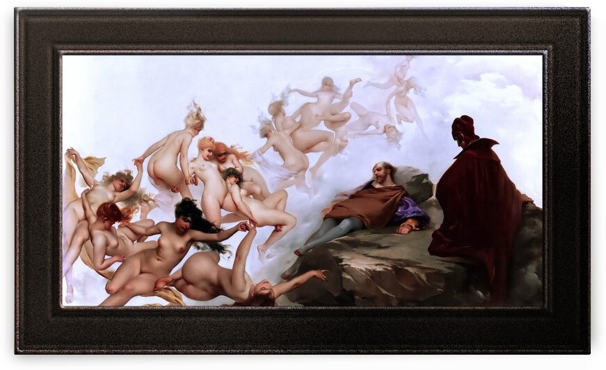 Fausts Dream by Luis Ricardo Falero Fine Art Old Masters Reproduction by xzendor7