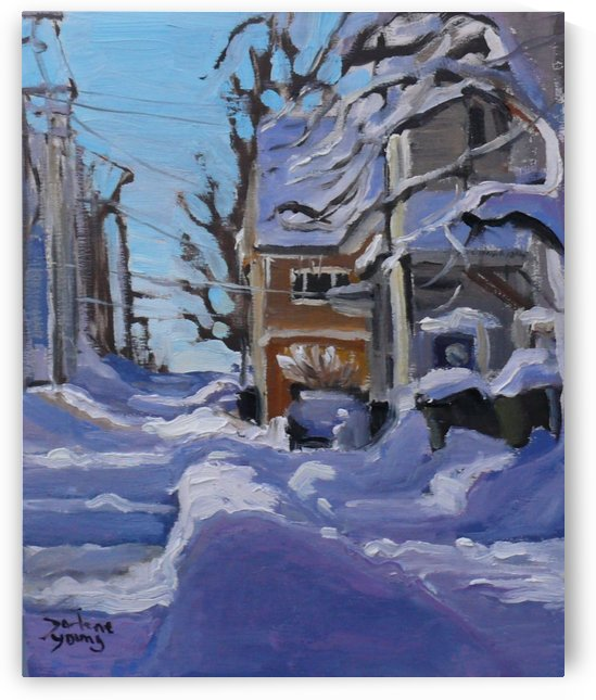 Charlottetown Winter Scene by Darlene Young Canadian Artist