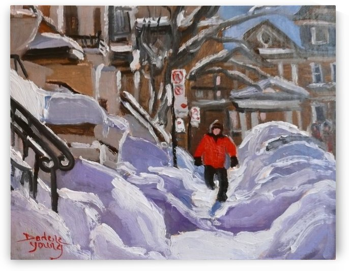 Montreal Winter, Snow Hurdles by Darlene Young Canadian Artist