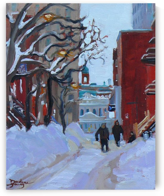 Montreal Winter Near UQAM by Darlene Young Canadian Artist
