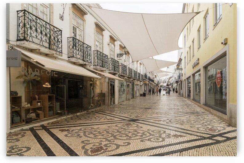 Charming Faro Algarve Portugal - Shopping Street with a Fab Stone Carpet by GeorgiaM