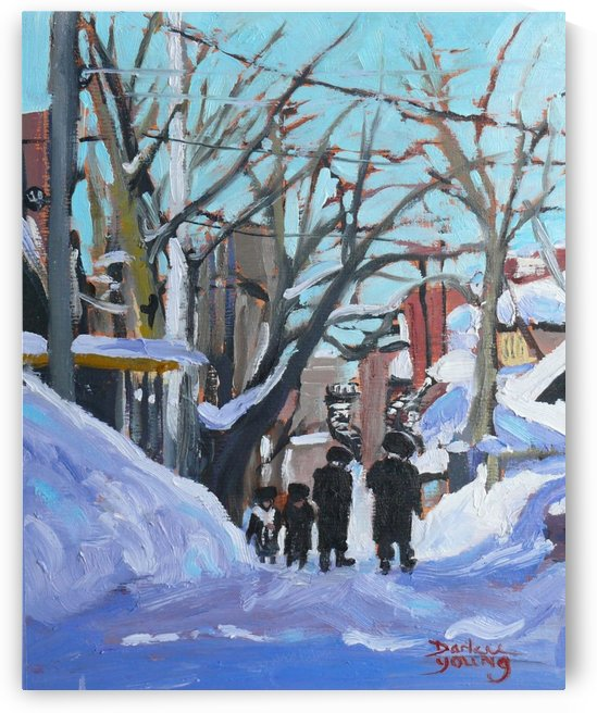 Montreal Winter Outremont by Darlene Young Canadian Artist