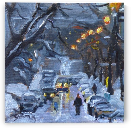 Ave du Musee, Montreal Winter Scene by Darlene Young Canadian Artist