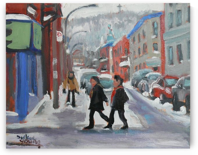 Montreal Winter Scene, Le Plateau by Darlene Young Canadian Artist