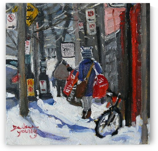McGill Ghetto, Laundry Day by Darlene Young Canadian Artist