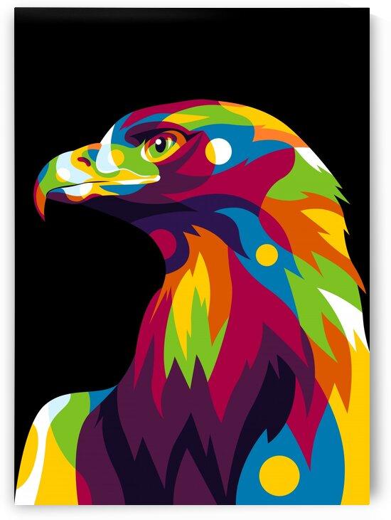 Falcon Head Pop Art by wpaprint