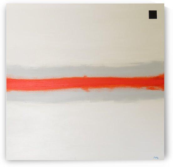 Orange Horizon on Gray. Sunset  by David Uriarte