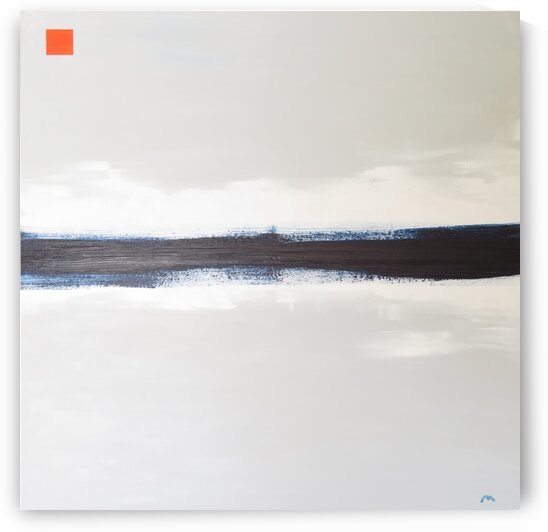 Blue horizon on white Midday by David Uriarte