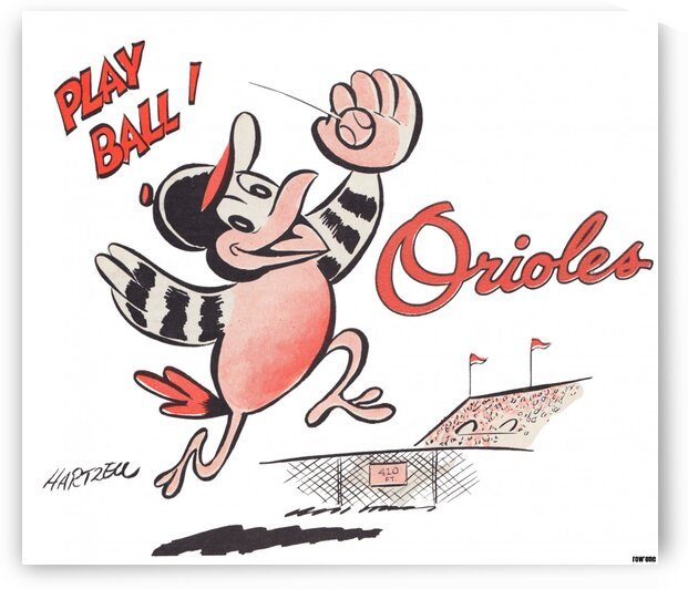 1960 Baltimore Orioles Art by Row One Brand