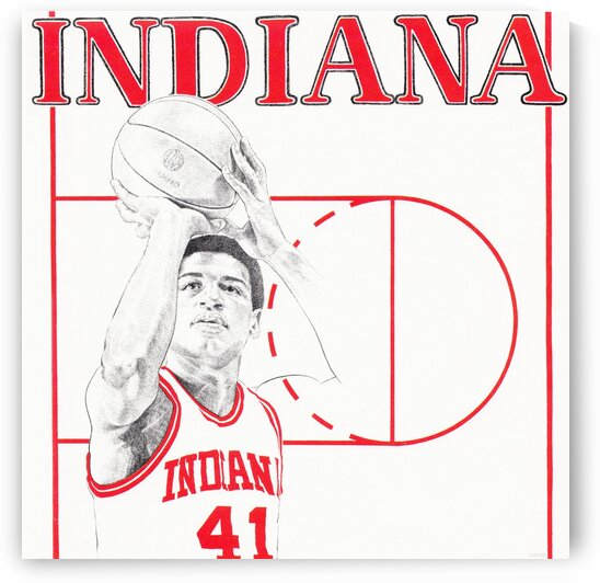 1980 Indiana Basketball by Row One Brand