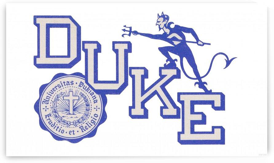 Vintage Duke University Art by Row One Brand