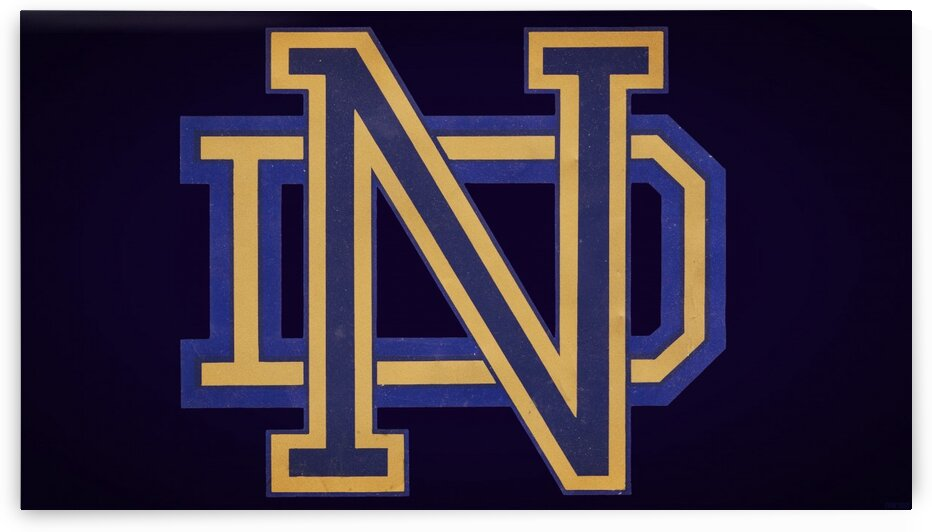 Vintage Notre Dame Art by Row One Brand