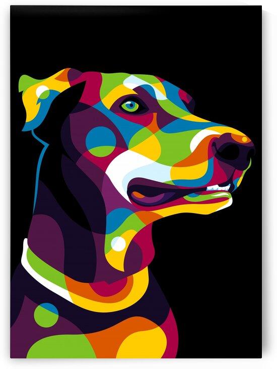 Doberman Dog Pop Art by wpaprint