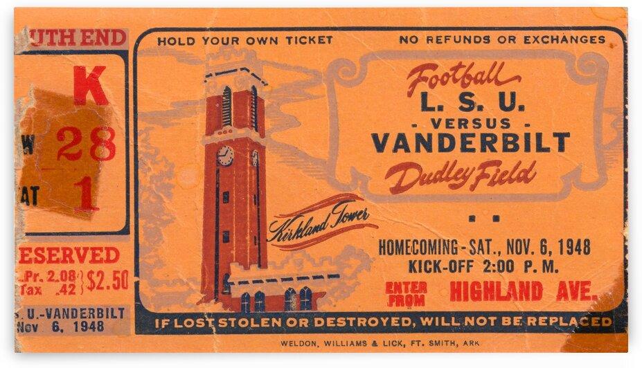 1948 LSU vs. Vanderbilt by Row One Brand